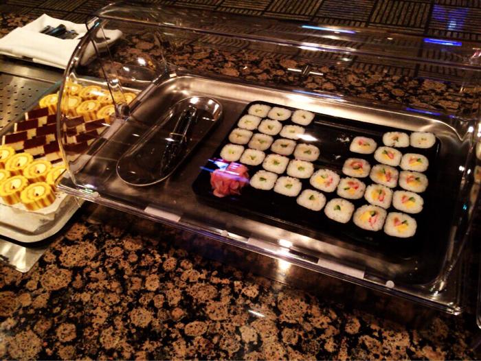ラウンジのお寿司
