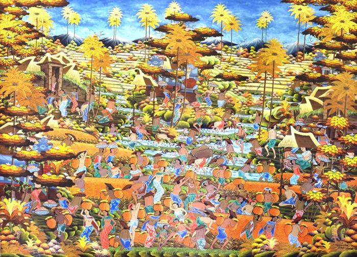 ウブド 農村 アート