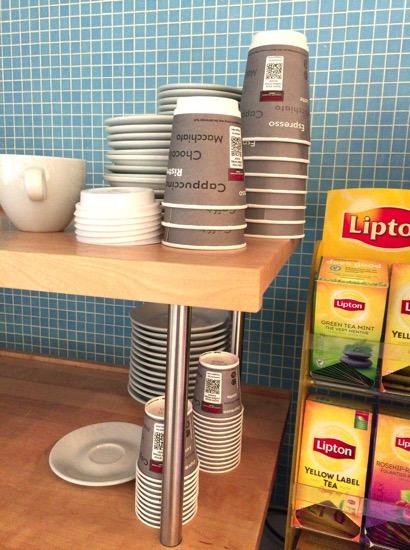 ブリュッセル空港ラウンジのコーヒー