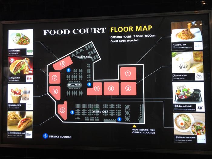 フードコート地図