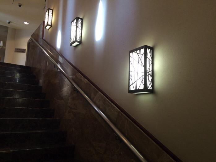 ラウンジの階段
